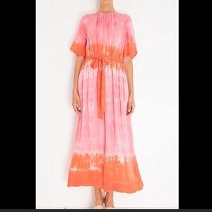 Raquel Allegra nwt silk grapefruit dress size 1